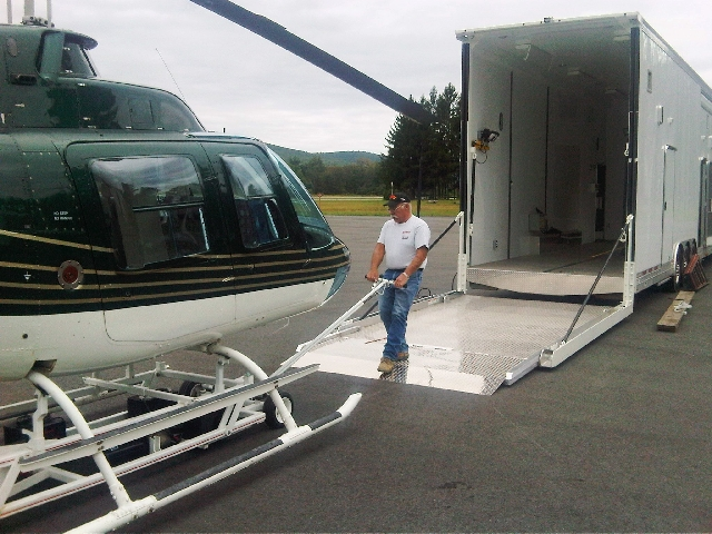 custom helicopter trailers